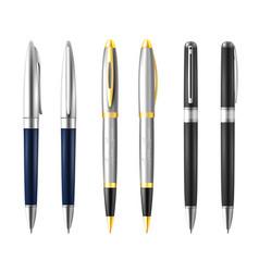 business pen icon set vector image