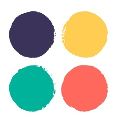 Four watercolor dots vector image vector image