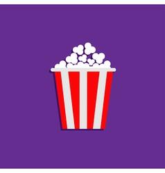 Popcorn Cinema Movie icon violet Flat vector image vector image