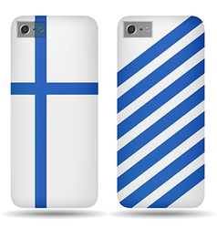 Rear covers smartphone with flags Finland vector image
