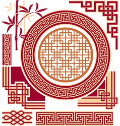 Set of Oriental - Chinese - Design Elements vector image