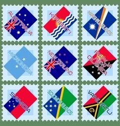 Australia and Oceania vector image