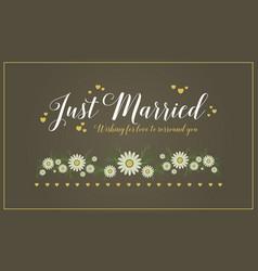 Card wedding romantic style collection vector