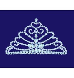 feminine wedding diadem crown on blue vector image