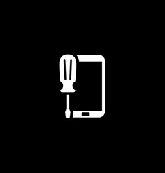 mobile repair icon flat design vector image vector image