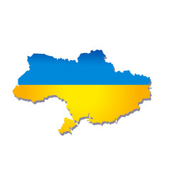 new map of ukraine vector image vector image