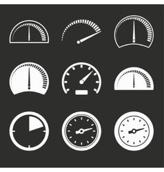 Speedometer icon set vector image vector image