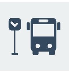 bus icon 1 vector image vector image