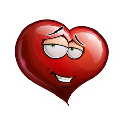 Heart faces romantic vector