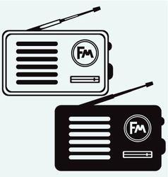 Old radio receiver vector image