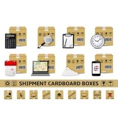 Shipment cardboard boxes vector image