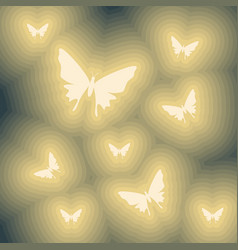 Abstact butterflies icons vector