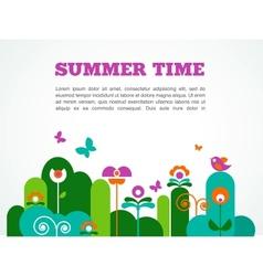 abstract garden summer time vector image