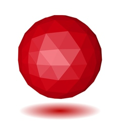 Abstract red low polygonal sphere vector