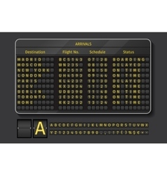 Airport or railway scoreboard vector image