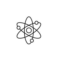 atom and molecule line icon education and school vector image