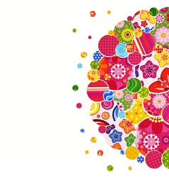 Background with floral and ornamental circles vector image