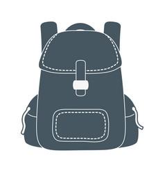 backpack haversack cartoon vector image