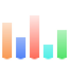 Bar chart bar graph with random levels for vector