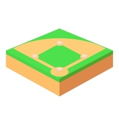 Baseball field icon cartoon style vector