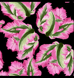 Beautiful botanical pattern with tulip flowers vector