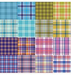 big tartan textile texture set vector image