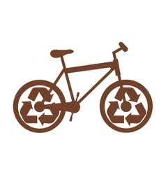bike or bicycle with recycle arrows icon image vector image