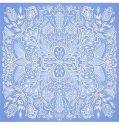 Blue orient traditional ornament vector