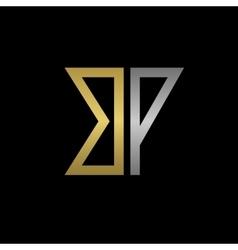 Bp letters logo vector
