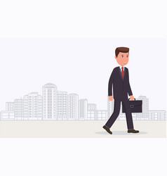 businessman goes to work vector image