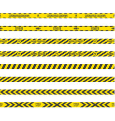 caution lines coronavirus vector image