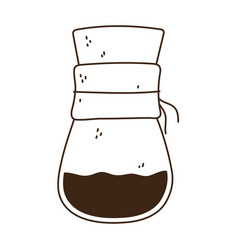 Coffee brew method chemex line icon style vector