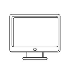 computer monitor screen icon vector image
