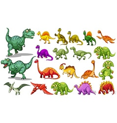 Different kind dinosaurs vector
