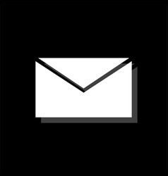 e mail icon flat vector image