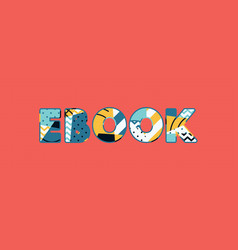 Ebook concept word art vector