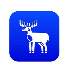 Elk icon blue vector
