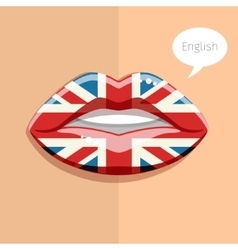 English language concept vector image