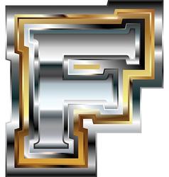 Fancy font Letter F vector image