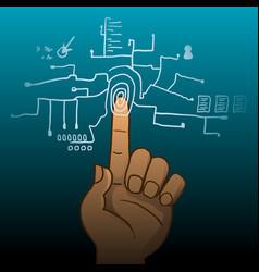 Fingerprint identification vector
