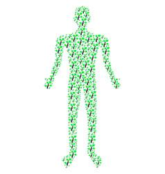 flora plant person figure vector image