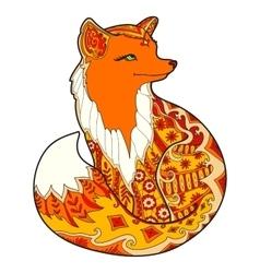 Fox with fantasy ornament vector