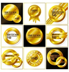Gold abstract set of backgrounds for your design vector