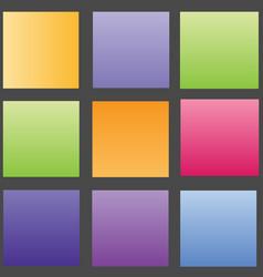 gradent background set vector image