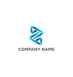 gradient initial z logo design vector image