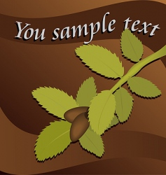 greeting card with a branch vector image