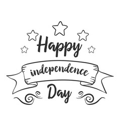 Hand draw of independence day collection vector