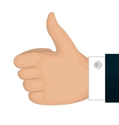 Hand like gesture back isolated vector