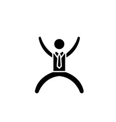 happy man black icon sign on isolated vector image