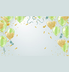 heart balloons party balloons confetti and vector image